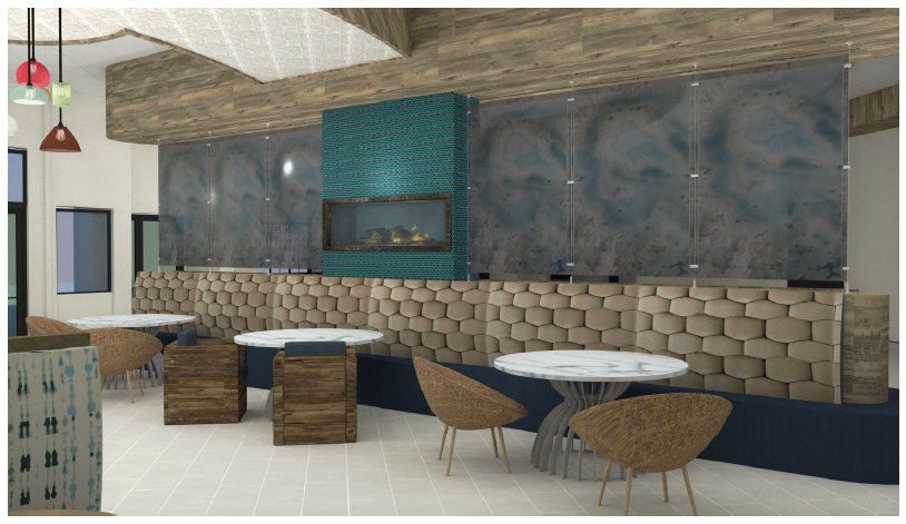 Rendering of Lounge Seating