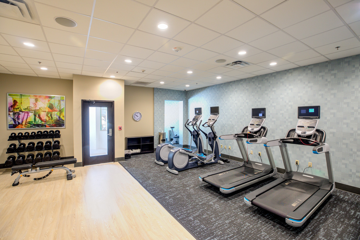 fitness room hotel indigo mount pleasant