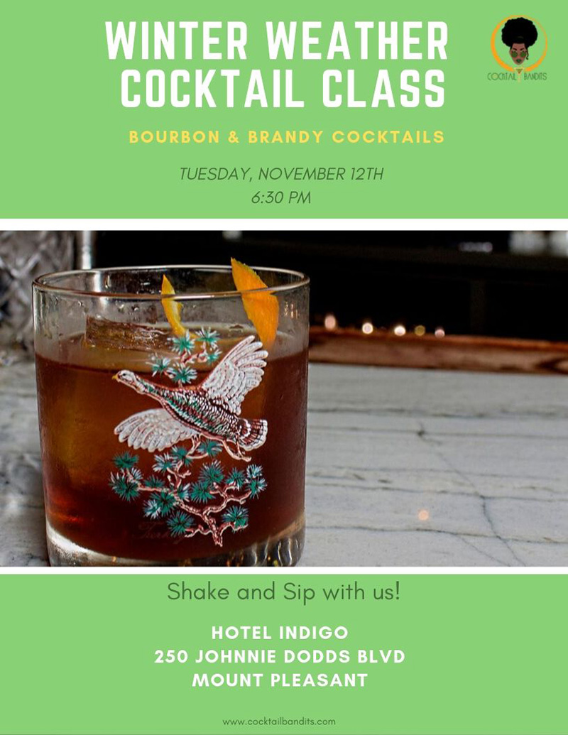 Winter Weather Cocktail Class - Nov 12 at 6:30pm